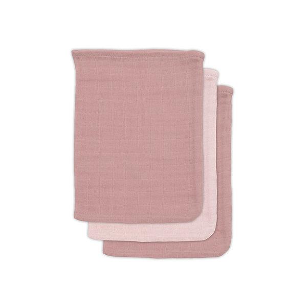 Jollein Jollein - Bamboe washandje - Pale pink (3pack)