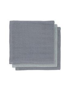 Jollein Jollein - Bamboe monddoekje hydrofiel - Storm grey (3pack)