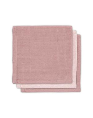 Jollein Jollein - Bamboe monddoekje hydrofiel - Pale pink (3pack)