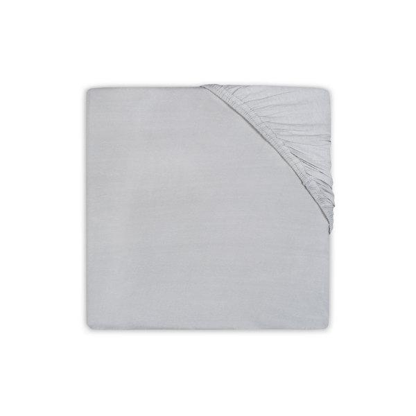 Jollein Jollein - Hoeslaken Wieg jersey 40x80/90cm - Soft grey