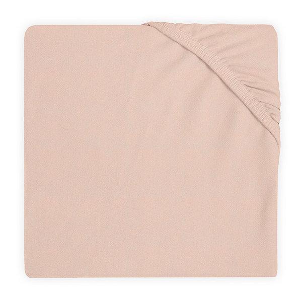 Jollein Jollein - Hoeslaken ledikant jersey 60x120cm - Pale pink