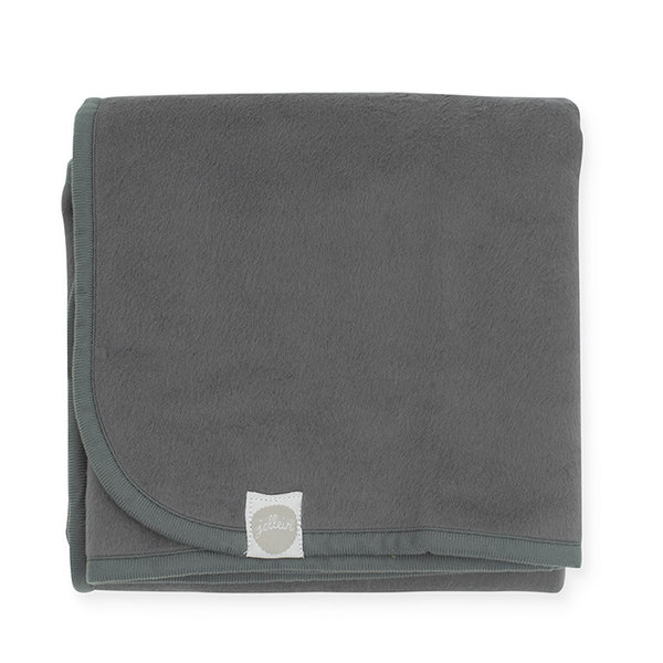 Jollein Jollein - Deken Ledikant 100x150cm - Storm grey