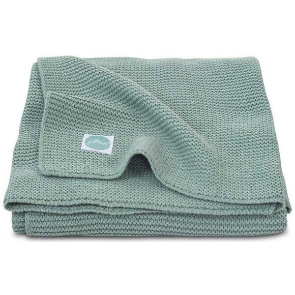 Jollein Jollein - Deken Wieg 75x100cm - Basic knit forest green