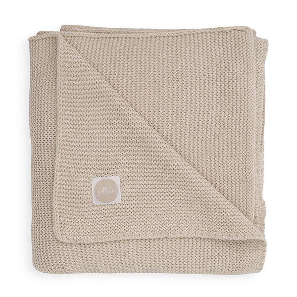 Jollein Jollein - Deken Wieg 75x100cm - Basic knit nougat