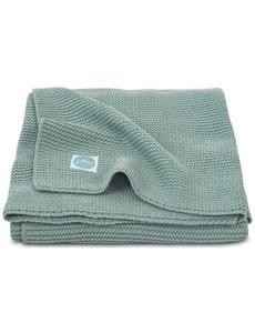 Jollein Jollein - Deken Ledikant 100x150cm - Basic knit forest green