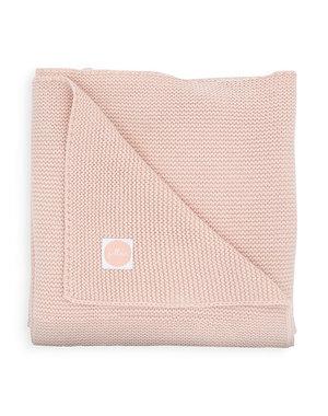 Jollein Jollein - Deken Wieg 75x100cm -  Basic knit pale pink