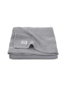 Jollein Jollein - Deken Ledikant 100x150cm - Basic knit stone grey