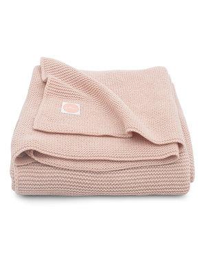 Jollein Jollein - Deken Ledikant 100x150cm - Basic knit pale pink
