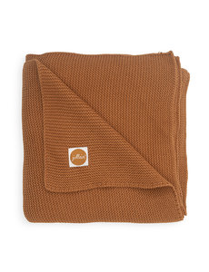 Jollein Jollein - Deken Ledikant 100x150cm - Basic knit caramel