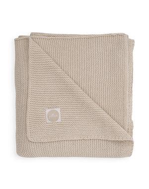 Jollein Jollein - Deken Ledikant 100x150cm - Basic knit nougat