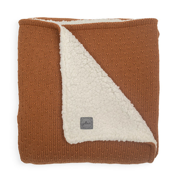 Jollein Jollein - Deken teddy Ledikant 100x150cm - Bliss knit caramel