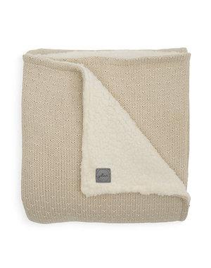 Jollein Jollein - Deken teddy Ledikant 100x150cm - Bliss knit nougat