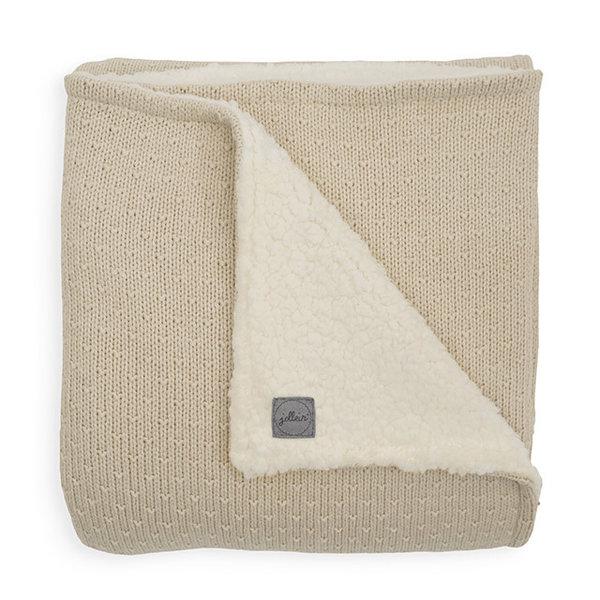 Jollein Jollein - Deken teddy Wieg 75x100cm - Bliss knit nougat