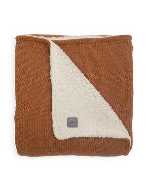 Jollein Jollein - Deken teddy Wieg 75x100cm - Bliss knit caramel