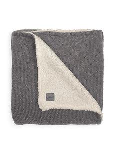 Jollein Jollein - Deken teddy Wieg 75x100cm - Bliss knit storm grey