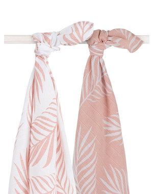 Jollein Jollein - Hydrofiel multidoek large 115x115cm - Nature pale pink (2pack)