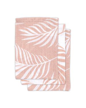 Jollein Jollein - Hydrofiel washandje - Nature pale pink (3pack)