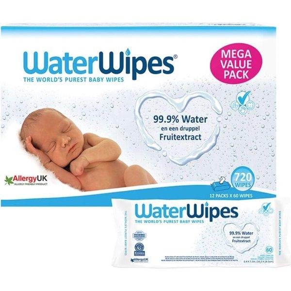 WaterWipes WaterWipes - Babydoekjes plasticvrij en biologisch afbreekbaar - 720 stuks