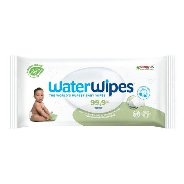 WaterWipes WaterWipes - Snoetendoekjes plasticvrij en biologisch afbreekbaar - 60 stuks