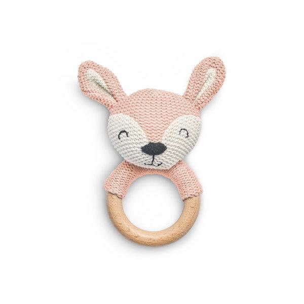 Jollein Jollein - Bijtring Ø 7cm Deer - Pale Pink