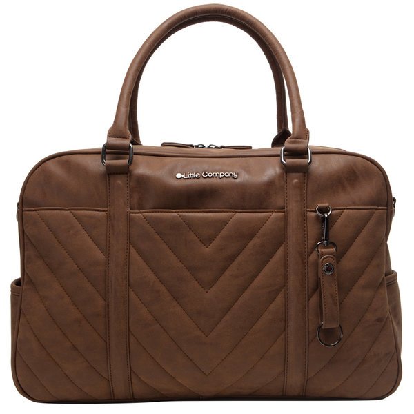 Little Company - Amsterdam Quilted Luiertas - Cognac