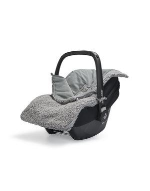 Jollein Jollein - Voetenzak Voor Autostoel & Kinderwagen - Teddy Storm Grey