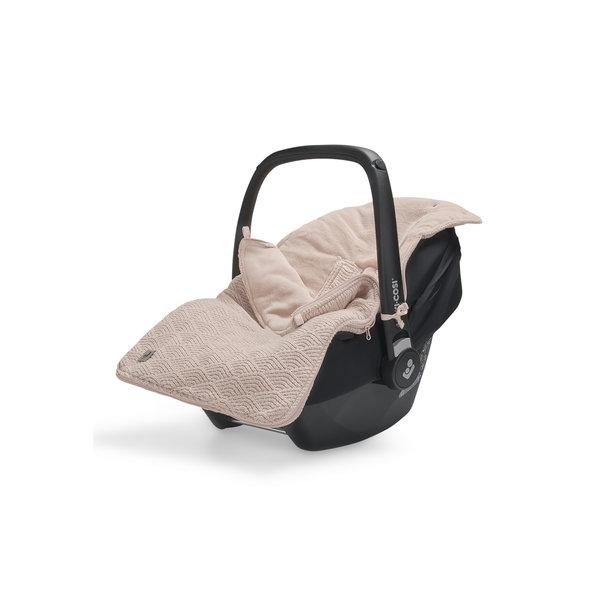 Jollein Jollein - Voetenzak Voor Autostoel & Kinderwagen - River Knit Pale Pink