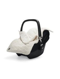 Jollein Jollein - Voetenzak Voor Autostoel & Kinderwagen - River Knit Cream White