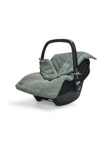 Jollein Jollein - Voetenzak Voor Autostoel & Kinderwagen- River Knit Ash Green