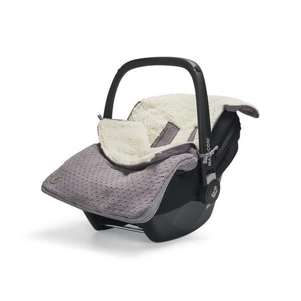 Jollein Jollein - Voetenzak Voor Autostoel & Kinderwagen - Bliss Knit Storm Grey