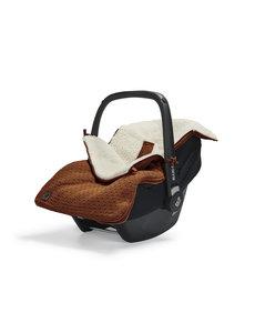 Jollein Jollein - Voetenzak Voor Autostoel & Kinderwagen - Bliss Knit Caramel
