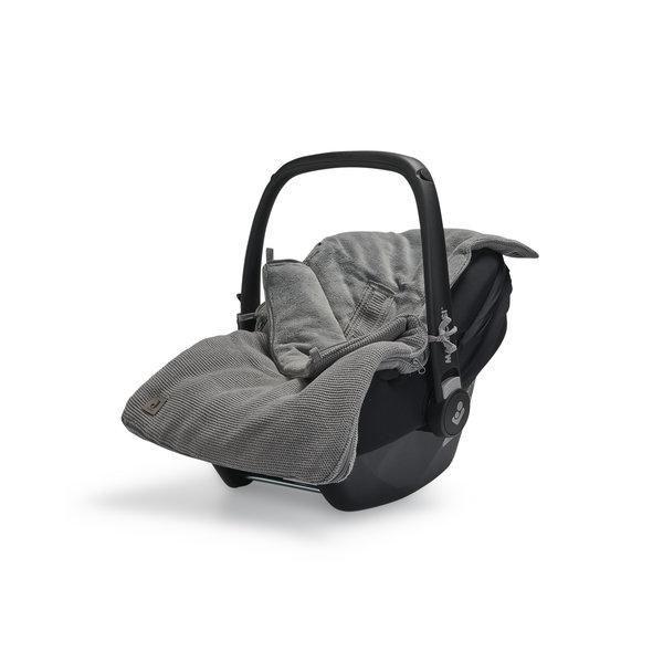 Jollein Jollein - Voetenzak Voor Autostoel & Kinderwagen- Basic Knit Stone Grey