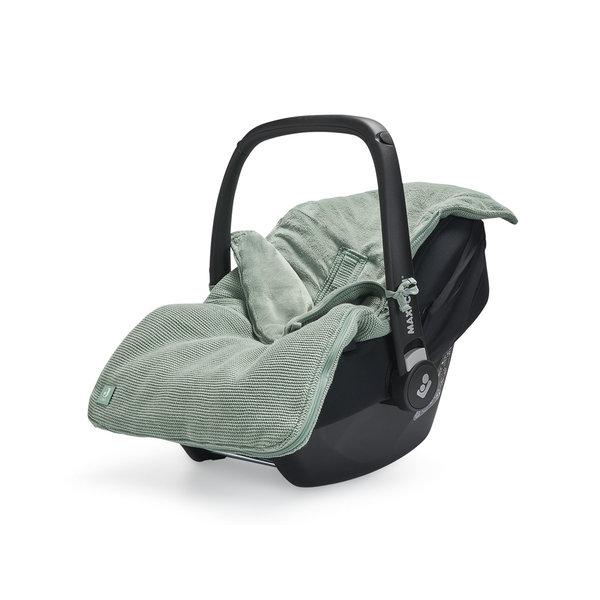 Jollein Jollein - Voetenzak Voor Autostoel & Kinderwagen - Basic Knit Forest Green