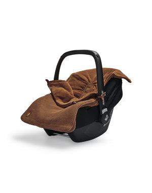 Jollein Jollein - Voetenzak Voor Autostoel & Kinderwagen - Basic Knit Caramel