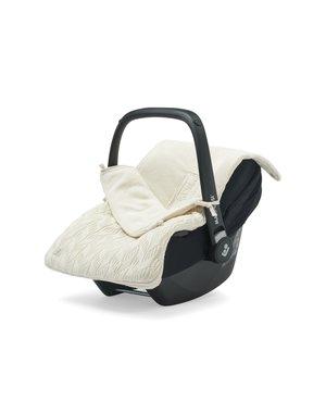 Jollein Jollein - Voetenzak Voor Autostoel & Kinderwagen - Spring Knit Ivory