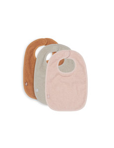 Jollein Jollein - Slabbetje Badstof - Pale Pink/Nougat/Caramel - 3 Stuks
