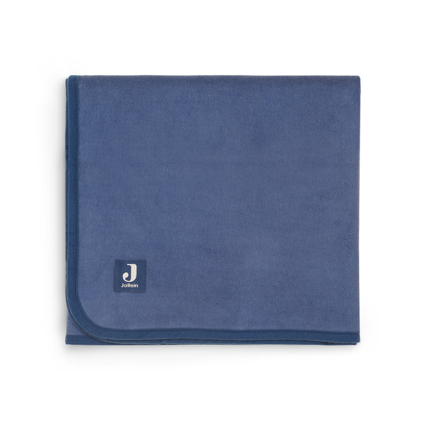 Jollein Jollein - Deken Ledikant 100x150cm Jeans Blue