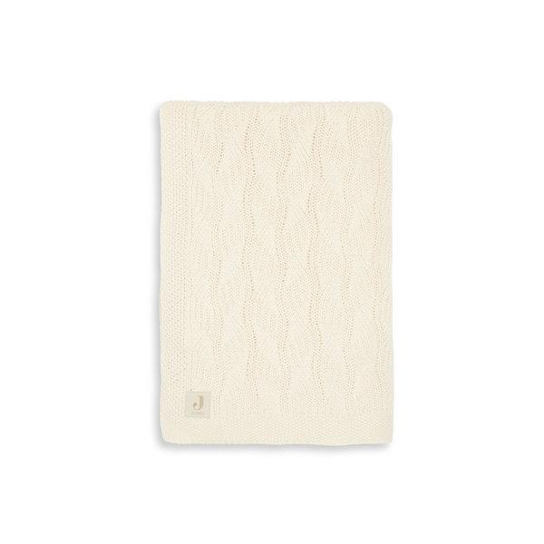 Jollein Jollein - Deken Ledikant 100x150cm - Spring Knit Ivory/Coral Fleece