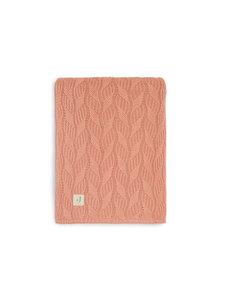 Jollein Jollein - Deken Ledikant 100x150cm Spring Knit - Rosewood/Coral Fleece