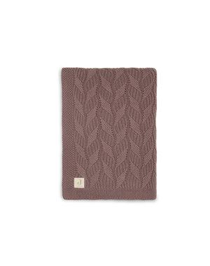Jollein Jollein - Deken Ledikant 100x150cm Spring knit - Chestnut/Coral Fleece