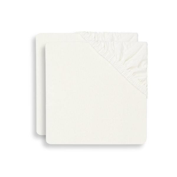 Jollein Hoeslaken Ledikant Jersey 60x120cm - Ivory - 2 Stuks