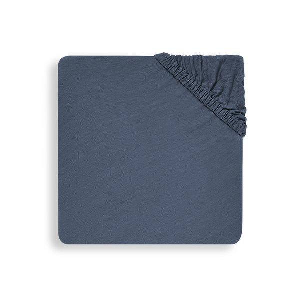 Jollein Hoeslaken Boxmatras Jersey 75x95cm - Jeans Blue
