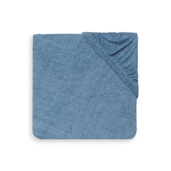 Jollein Jollein - Aankleedkussenhoes Badstof 50x70cm - Jeans Blue