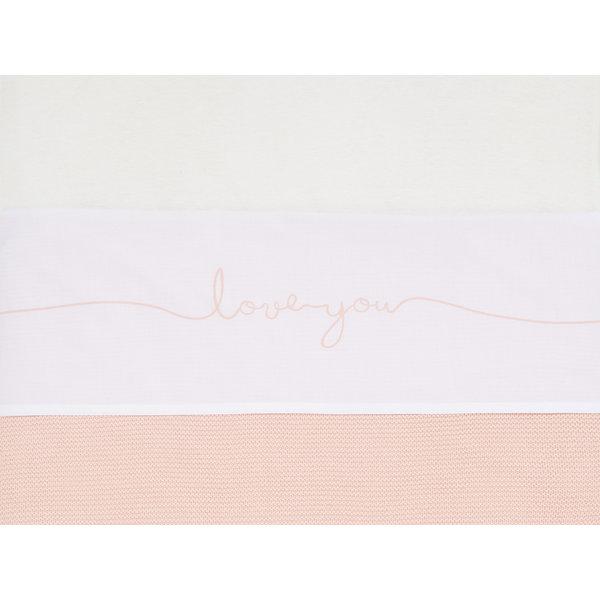 Jollein Jollein - Laken Wieg 75x100cm - Love You - Pale Pink