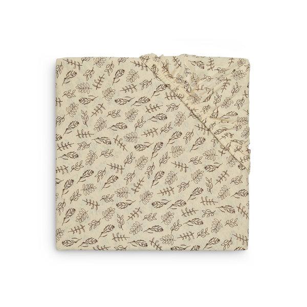 Jollein Jollein - Hoeslaken Ledikant Jersey 60x120cm - Meadow Chestnut