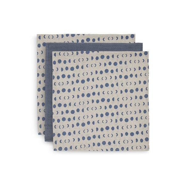 Jollein Jollein - Multidoek Hydrofiel Small 70x70cm - Moonlight - 3 Stuks