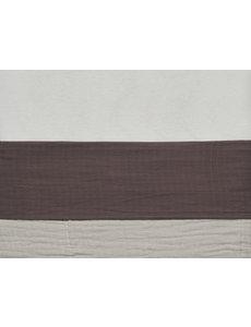 Jollein Jollein - Laken Wieg 75x100cm - Wrinkled - Chestnut
