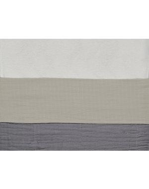 Jollein Jollein - Laken Wieg 75x100cm - Wrinkled - Nougat