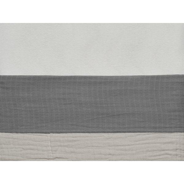 Jollein Jollein - Laken Wieg 75x100cm - Wrinkled - Storm Grey