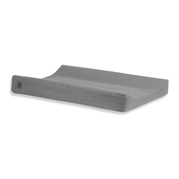 Jollein Jollein - Aankleedkussenhoes 50x70cm - Wrinkled - Storm Grey